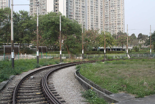 Unused reversing loop at Tai Hing (North) Stop