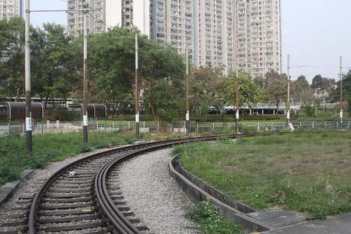 Unused reversing loop at Tai Hing (North) Stop