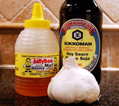 Grilled Honey Garlic Wings Ingredients