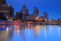 A night on the Yarra (Celtics24) Tags: bridge sunset water skyline night canon reflections river landscape lights twilight nightlights australia melbourne victoria yarra bluehour yarrariver nightskyline melbourneskyline canon5dmkii