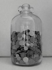 Debt (*Yvy*) Tags: money john coins rich jar change demi pennies debt