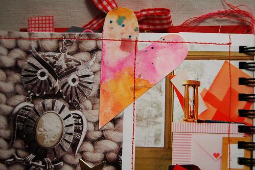 Detail: owl jewelery + watercolour heart