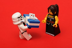[129/365] Surprise Present (pasukaru76) Tags: lady big lego surprise stormtrooper present barmaid canon100mm minifig365