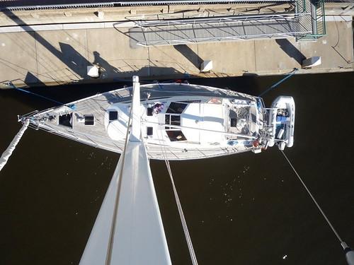 The boat below