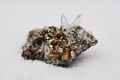 Chalcopyrite w/ Pyrite and Quartz (CasualCapture) Tags: snow peru rock crystal mineral geology quartz pyrite chalcopyrite pachapaquemine