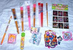 More Sailor Moon Chopsticks, & More Miscellaneous (Cruioso) Tags: anime pencil japanese keychain chibi stickers swing clip chopsticks bento gashapon stationery magnet 1990s sailormoon 90s stationary rini hairaccessories sailorscouts tuxedomask sailorvenus hairaccessory magicalgirl chibiusa senshi sailormercury sailormars eternalsailormoon sailorjupiter sailorneptune sailorchibimoon pencillead lunap lunaball  sailorstars prettysoldier smalllady laserstickers