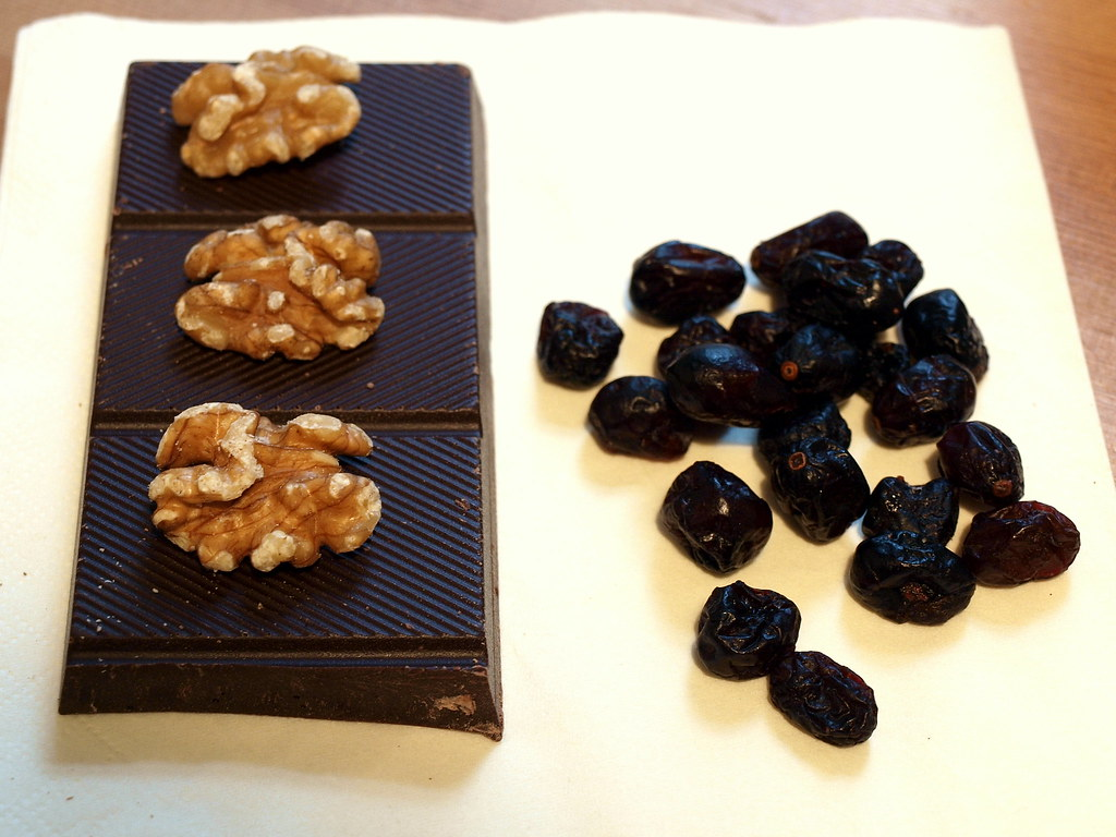 Chocolate, Walnuts, Cherries