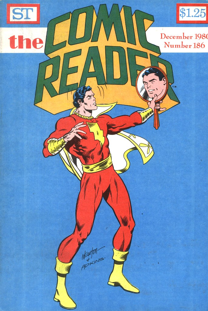 The Comic Reader 186 Captain Marvel looks in the mirror by Don Newton and Dan Adkins