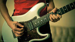 Can We Pretend? (JavaJunky) Tags: me guitar widescreen 365 strat electricguitar canon50mm14 warmoth canon5dmarkii
