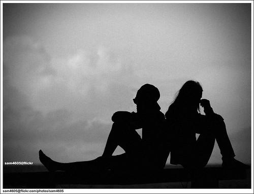 in love silhouette. Love Silhouette