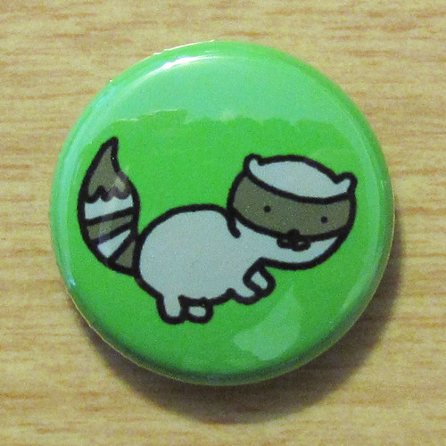 Woodland Raccoon - Button 01.12.11