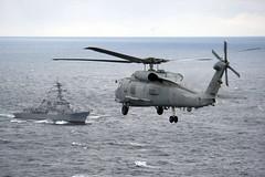 Navy Sea Hawk flies toward USS Stockdale. (Official U.S. Navy Imagery) Tags: boat ship navy armada submarine formation destroyer sailor usnavy carrier underway seahawk unitedstatesnavy marineros stockdale