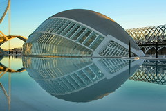 L'Hemisfric /  (mitko_denev) Tags: espaa reflection valencia spain  cityofartsandsciences   yahoo:yourpictures=reflections