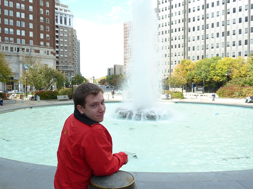 Justin at LOVE Park in Philly