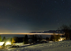 Starry New Year's Eve (andreaskoeberl) Tags: longexposure mountain snow night dark star austria lowlight nikon nightshot tripod newyear rheintal 30s iso1600 highiso starrynight vorarlberg d7000 nikond7000 andreaskoeberl