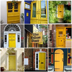 Yellow doors (LaWendeltreppe) Tags: yellow doors mosiacs thingsilovethurdays