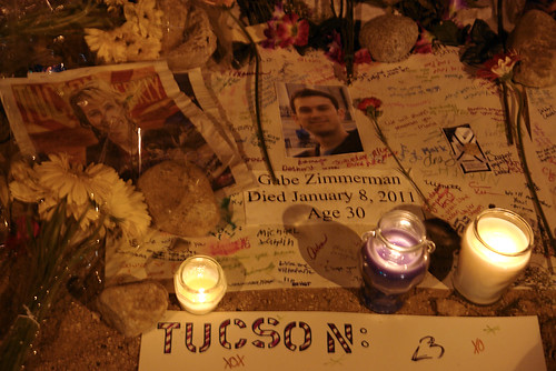 Memorial at Oracle and Ina RD - Tucson Shooting scene