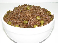 Camie's Black Mushroom Spice Rice (Djon Djon) (CamiesBakery) Tags: cambridge food boston dinner ma cuisine haiti rice massachusetts caribbean mass ethnic blackrice haitian riceandbeans greenpeas riceandpeas