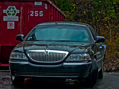 Lincoln Town car (P A Photography) Tags: usa water car town us eau du lincoln nord amerique goutellettes amaericain