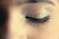 Glitter shadow, Spider lashes (sonnishine) Tags: winter woman snow macro eye girl beautiful glitter female digital america vintage nikon shiny pretty lashes eyelashes bokeh united north makeup savannah states dainty hawaiin 2011 d3000 nikond3000 sonnishine