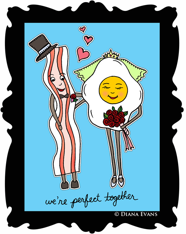 were perfect together eggs and bacon- colour final