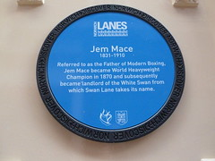 Photo of Jem Mace blue plaque