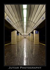 NY/NJ PATH (Jutiar) Tags: new york nyc newyorkcity ny station vanishingpoint nikon manhattan fisheye 105mm d90 nikon105mm nikond90 jutiar jutiarphotogrpahy nynjpath wwwjutiarphotographycom