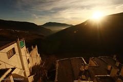 ([ raymond ]) Tags: houses roof sunset sky espaa sun rooftop clouds spain village espana sierranevada mountians 2010 alpujarras raymondhaddad