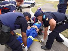 resgate de motoqueiro acidentado próximo à base da guarda