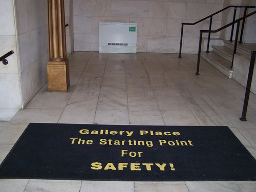 Gallery Place: The Starting Point for Safety (carpet in the Reynolds Center)