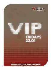 Vip Fridays - Play Punta Hermosa