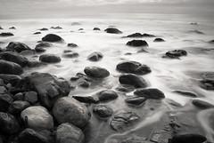 (A. Lusignan) Tags: longexposure sea black blur water newfoundland coast blackwhite nikon rocks waves avalon hoya ferryland nd400 2011 18200mmvr d80 hoyand400
