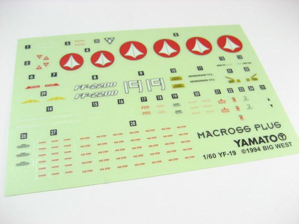 Yamato 1/60 YF-19 stickers