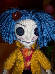 Coraline (octosquirrelbot) Tags: doll handmade crafts crochet yarn coraline