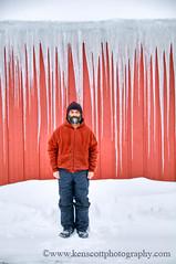 KAScott_20110119_6232fh (Ken Scott) Tags: winter red usa selfportrait snow ice michigan january icicles selfie leelanau kenscott fhdr nonposepose kenscottphotography kenscottphotographycom