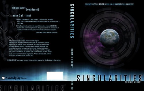 Draft cover for Singularities RPG