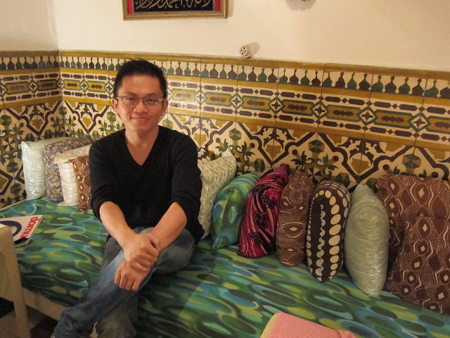 At Elizir Restaurant, Essaouira