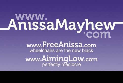 Anissa Mayhew business card - front