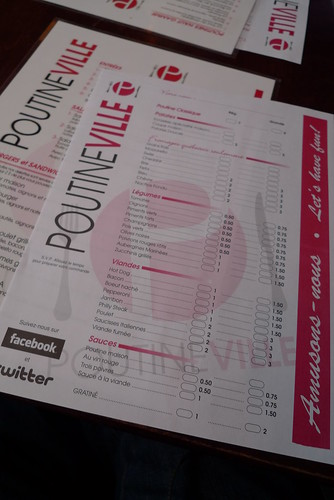 Poutineville menu