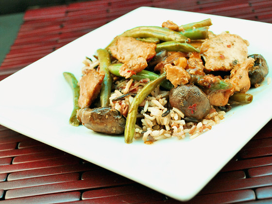 Mushroom and Green Bean Stir Fry