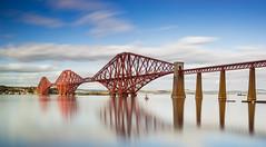 Forth Bridge (Alja Vidmar | ADesign Studio) Tags: unitedkingdom bw bridge scotland edinburgh nikon2470mm nikond800 filters landscape sky seascape longexposure polarizer hitechprostop clouds queensferry gb