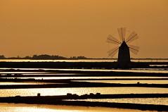 Sunset on the windmill (salvatore benanti) Tags: windmill saline saltpan mulino sea trapani paceco sunset