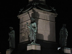 Base of Jubilumssule at night, Stuttgart, Germany (Paul McClure DC) Tags: stuttgart germany deutschland aug2016 badenwrttemberg architecture sculpture historic