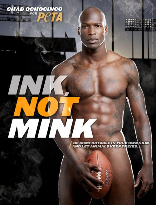 Chad Ochocinco Chooses Ink, Not Mink
