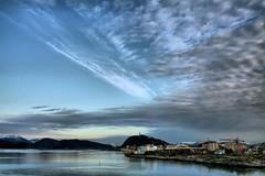 Weather front (larigan.) Tags: bridge sea sky weather norway clouds town scenery serenity fjord ålesund aalesund weatherfront aksla cloudlayers larigan valderøyfjord phamilton steinvågbrua