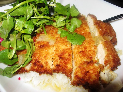 panko-crusted lemon chicken