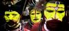 The Three Huli's (Dave Schreier) Tags: new men face yellow dave guinea three paint tribal tribe papua huli schreier wwwdlsimagescom