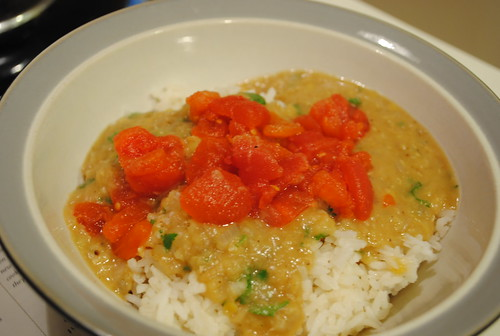 Lentils with Coconut Milk and Rice