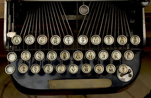 The Courier Typewriter keyboard