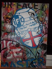 IFC - Dr.Face and Co. (InsaneFelonsCartel - IFC) Tags: wolfie studio stencil acrylic board smith brett satan spraypaint 2008 salvage ifc markers collective ewins drface